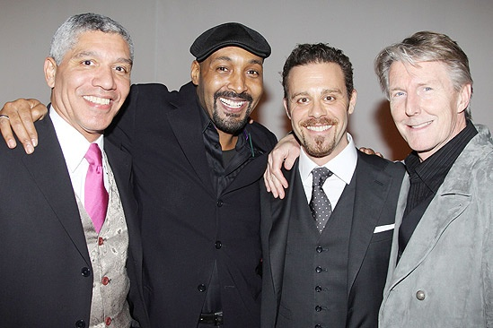 With Peter Francis James, Matthew Rauch and Bryon Jennings (Opening night of the Merchant of Venice, November 7, 2010)